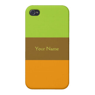 Tri-color stripes custom cases iPhone 4/4S covers