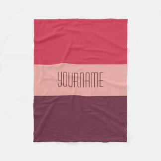 Tri-Color Stripes custom fleece blanket