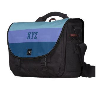 Tri-color stripes custom laptop bag