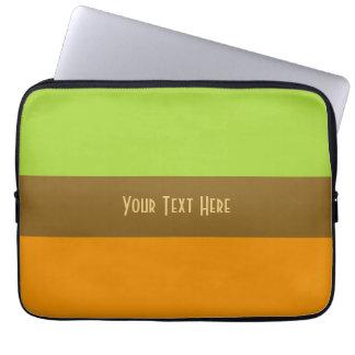Tri-color stripes custom laptop sleeves