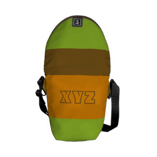 Tri-color stripes custom messenger bags