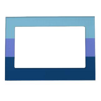 Tri-color stripes custom photo frame