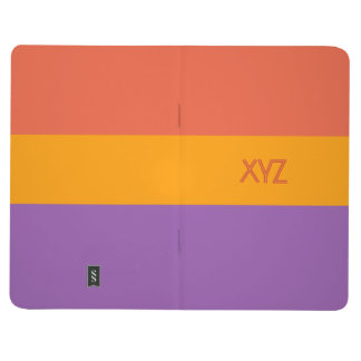 Tri-color stripes custom pocket journal