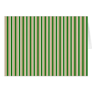 Tri-color Stripes in Christmas Green, Gold Silver Card