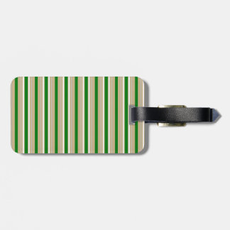 Tri-color Stripes in Christmas Green, Gold Silver Bag Tags