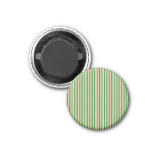 Tri-color Stripes in Christmas Green, Gold Silver Magnets