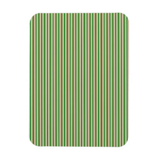 Tri-color Stripes in Christmas Green, Gold Silver Flexible Magnet