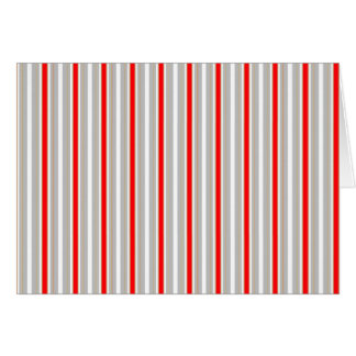 Tri-Color Stripes in Christmas Red Gold and Silver Card