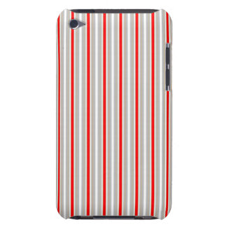 Tri-Color Stripes in Christmas Red Gold and Silver iPod Touch Case