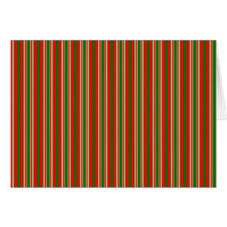 Tri-Color Stripes in Christmas Red, Green & Gold Card