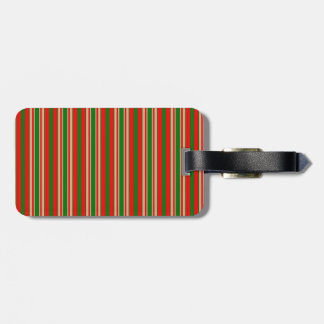 Tri-Color Stripes in Christmas Red, Green & Gold Tags For Bags