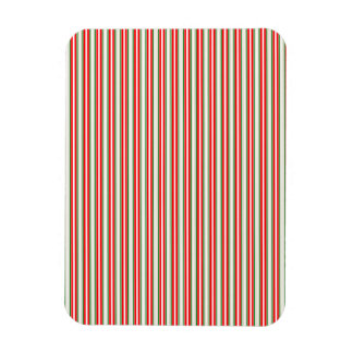 Tri-Color Stripes in Christmas Red, Silver & Green Vinyl Magnet