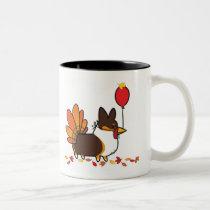 Tri-Color Thanksgiving Corgi Mug | CorgiThings