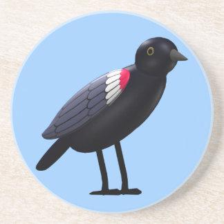 Tri Colored Blackbird Sandstone Coaster