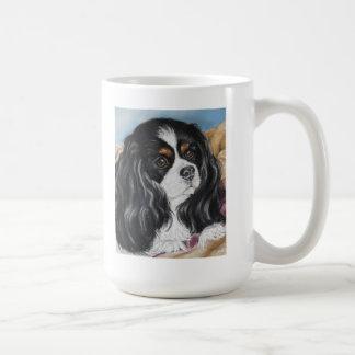 Tri colored Cavalier King Charles spaniel mug