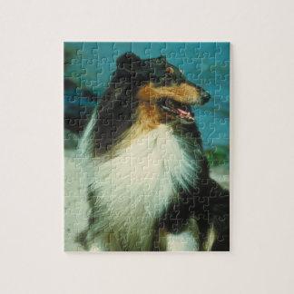 Tri-Colored Collie Dog Puzzle