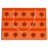 Tri Colored Fall / Autumn Design Large Gift Bag