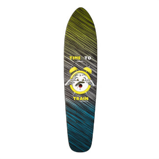 Tri-colored Time to Train Skateboard