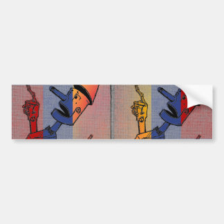 Tri-Colored Tin Man Bumper Sticker