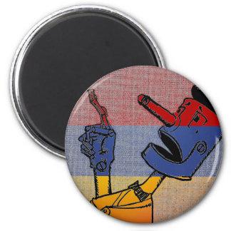 Tri-Colored Tin Man Magnet