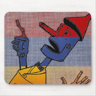 Tri-Colored Tin Man Mouse Pad
