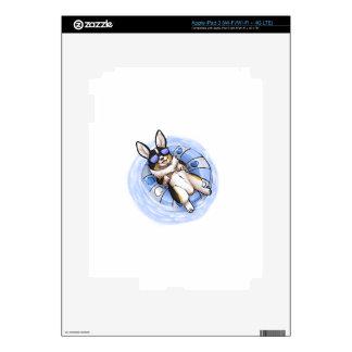 Tri Corgi estropeado iPad 3 Pegatinas Skins