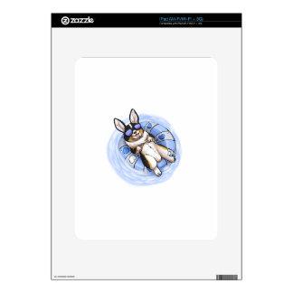 Tri Corgi estropeado iPad Skins