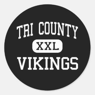 Tri County - Vikings - High - Howard City Michigan Classic Round Sticker