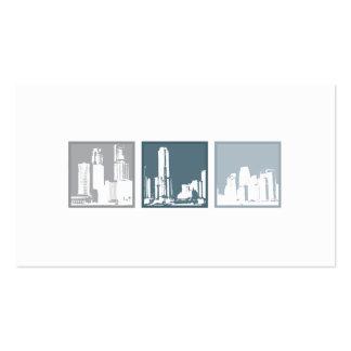 Tri Cuadrados - edificios Tarjetas De Visita