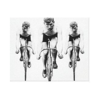 Tri Cyclist opcDesigns Canvas Print