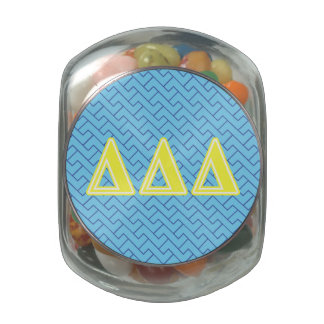 Tri Delta Yellow Letters Jelly Belly Candy Jar