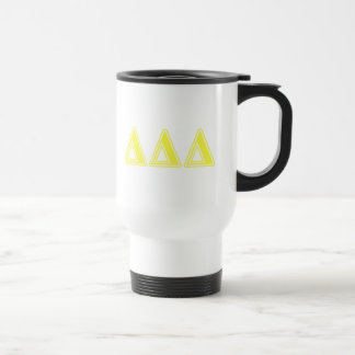 Tri Delta Yellow Letters Travel Mug
