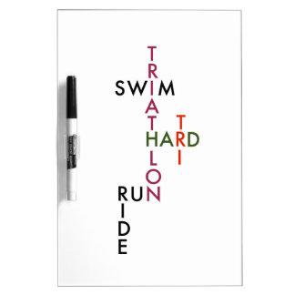 Tri duro del Triathlon Tableros Blancos