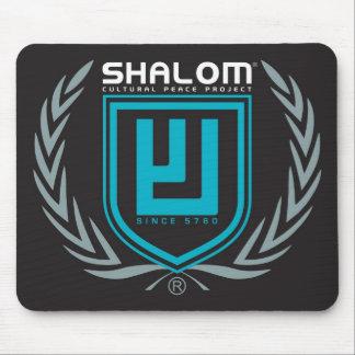 Tri escudo del color de Shalom Alfombrilla De Ratones