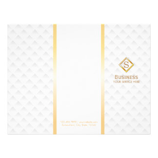 Tri-Fold Gold Diamond Monogram Modern Brochures