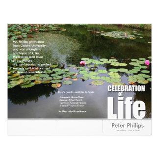 Tri-Fold Lotus Memorial Service Program Flyers