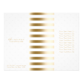 Tri-Fold Modern Gold Stripes & Diamond Quilted Flyer