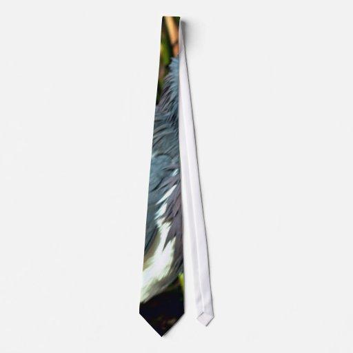 Tri garza coloreada corbata