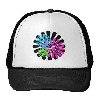 Tri gorra de la rueda de la flor del color