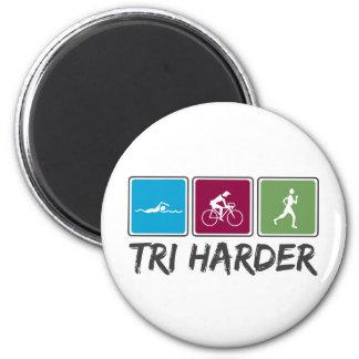 Tri Harder (Triathlon) 2 Inch Round Magnet