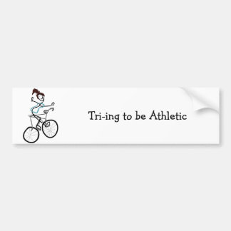 Tri-ing para ser atlético pegatina para auto