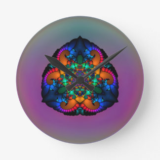Tri-Lobular Insignia Wall Clock