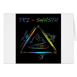 Tri logotipo de Shasta Triathalon Felicitaciones