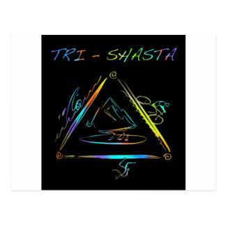 Tri logotipo de Shasta Triathalon Tarjetas Postales