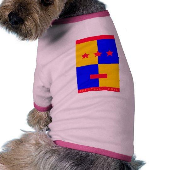 Tri logotipo del Forte de Stella Camiseta Con Mangas Para Perro
