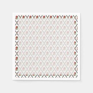 Tri modelo del papel pintado de los rosas del servilleta desechable