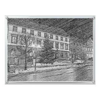 Tri mountain city hall postcard