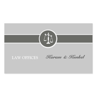 Tri Neutral Colors Plain Justice Scales Attorneys Business Card