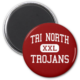 Tri North - Trojans - Middle - Bloomington Indiana 2 Inch Round Magnet