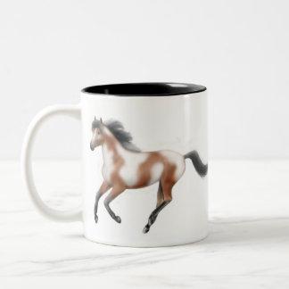 Tri Paint Horse Mug